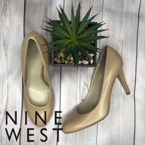Nine West Cream Heels Size 8